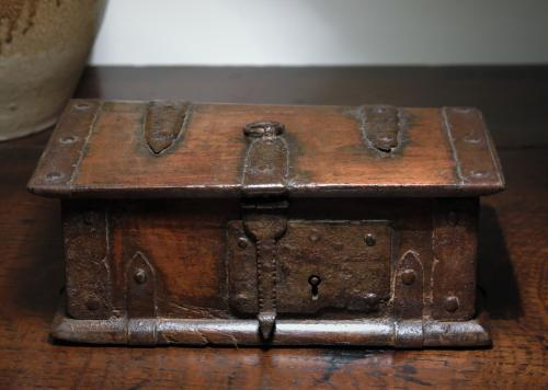 Tiny 16th Century Oak Casket