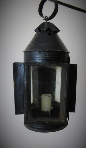 Unusual Tri - Form Lantern 19th Century